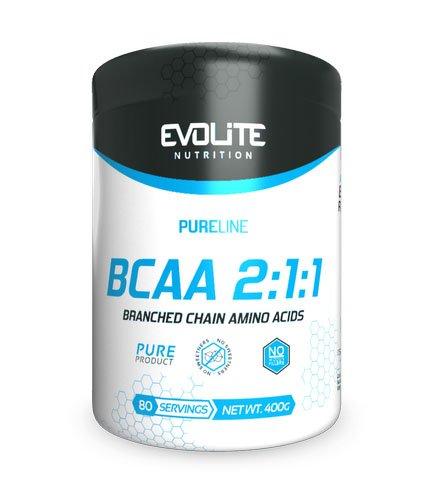 Evolite BCAA 2:1:1 400g Instant, No flavour