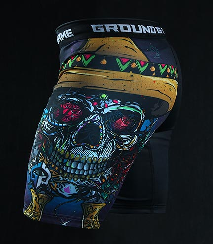 "Kraťasy Vale Tudo Ground Game ""Mexican Skull"""