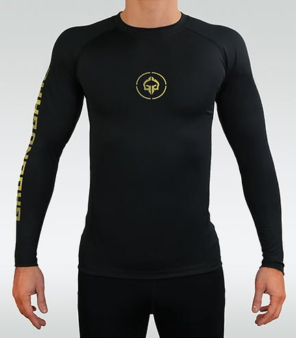 "Rashguard Ground Game ""Athletic Gold"" dlouhý rukáv"