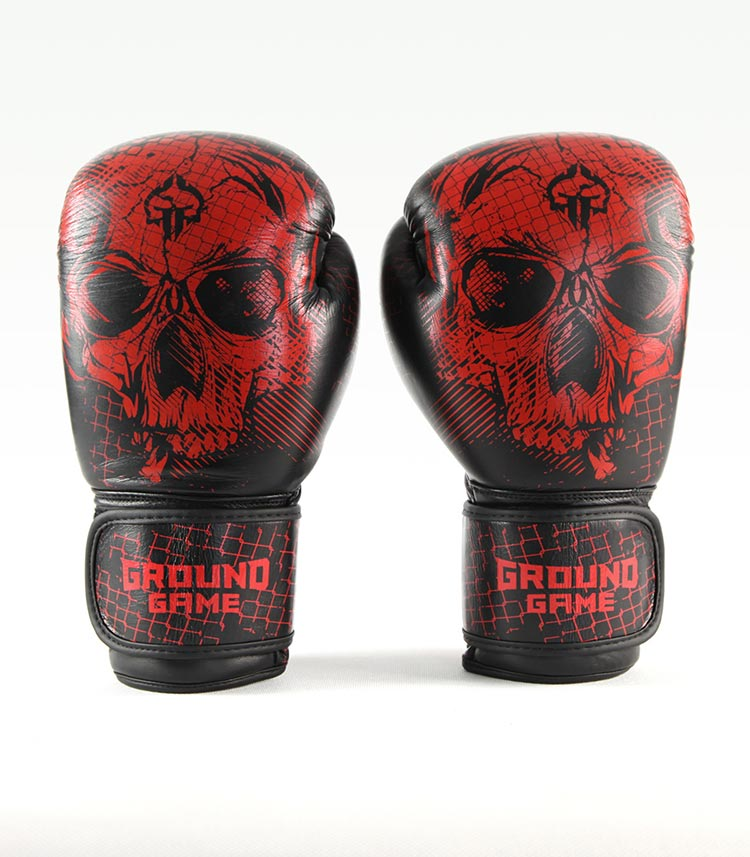 "Boxerské rukavice PRO Ground Game ""Red Skull"" 14 oz"