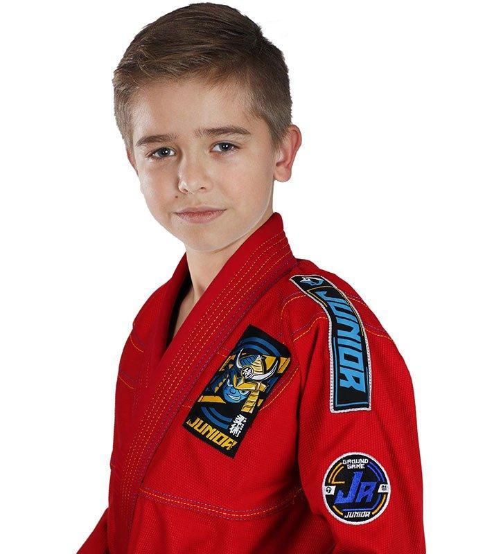 """Dětské kimono Gi BJJ Ground Game """"Junior 3.0"""" (Červené) + pásek ZDARMA"""