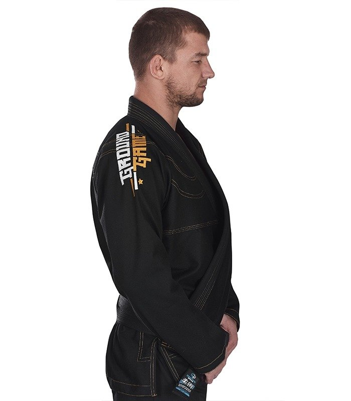 "Kimono Gi BJJ  Ground Game ""Champion"" (Černé)"