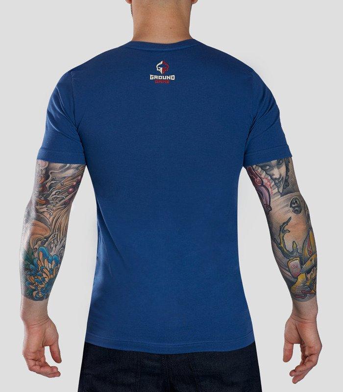 "Pánské tričko Ground Game ""Schield"" modré"