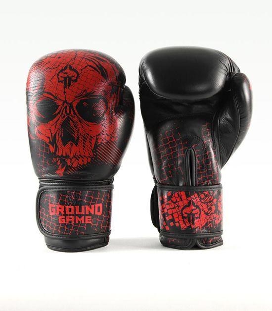 "Boxerské rukavice PRO Ground Game ""Red Skull"" 14 oz"