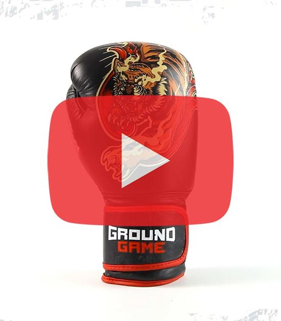 "Boxerské rukavice PRO Ground Game ""Red Tiger"" 12 oz"