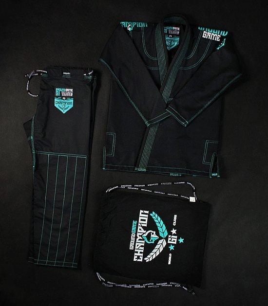 "Dámské kimono GI BJJ  Ground Game ""Champion 2.0 Mint"" (Černé)"