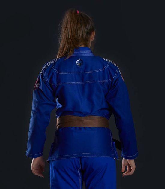 "Dámské kimono GI BJJ  Ground Game ""Sakura"" (Modré)"