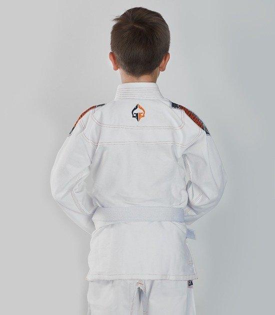 """Dětské kimono Gi BJJ Ground Game """"Tensai"""" (Bílé) + pásek ZDARMA"""