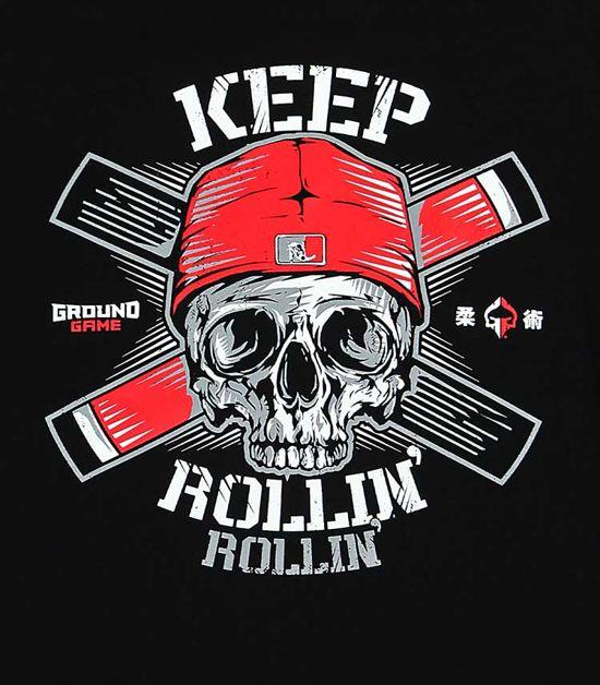 """Pánská mikina Ground Game """"Keep Rollin"""" černá"""