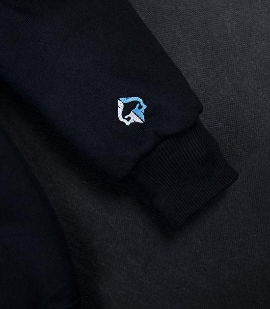 """Pánská mikina s kapucí Ground Game """"Mini Logo"""" černá"""