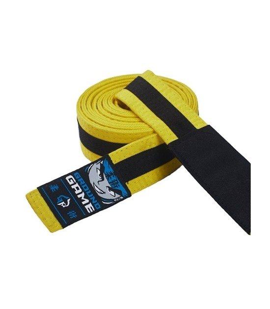 Pásek BJJ Ground Game  dětský (Žluto-černý)