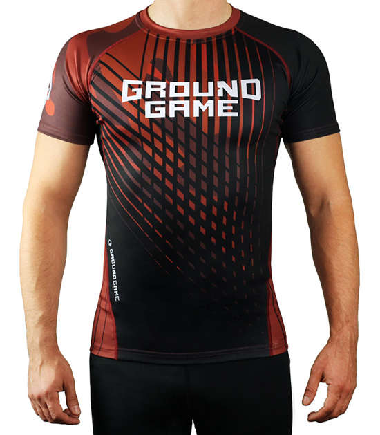 Rashguard Ground Game BJJ IBJJF hnědý