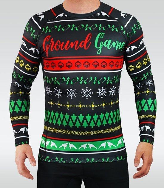"""Rashguard Ground Game """"Ossome Christmas"""""""