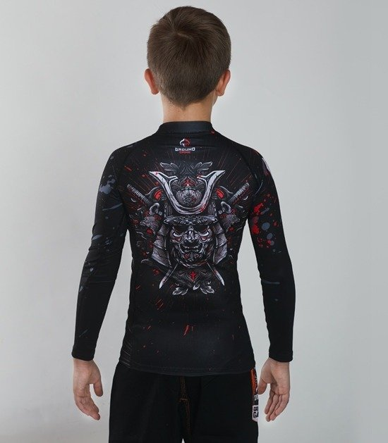 "Rashguard  Ground Game ""Samurai Mask"""