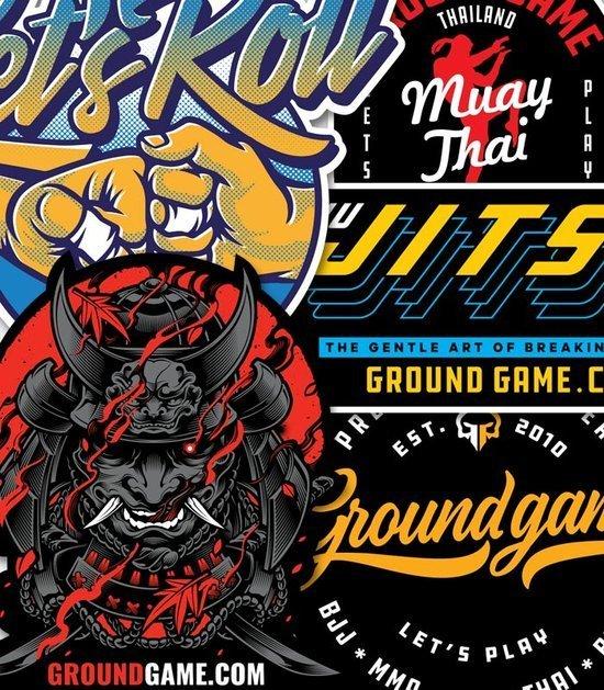 Samolepky Ground Game - 5 ks