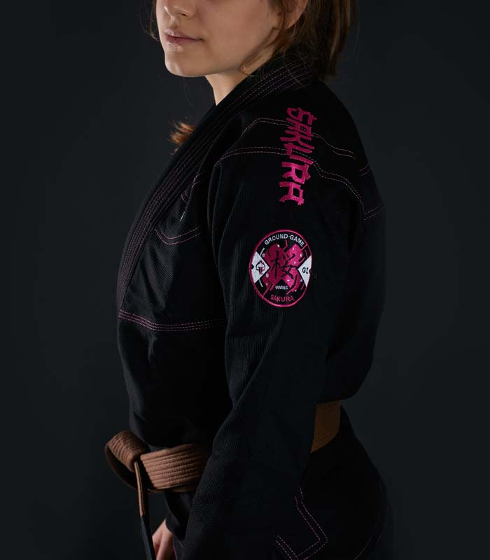 "BJJ Women`s GI ""Sakura"" (Black)"