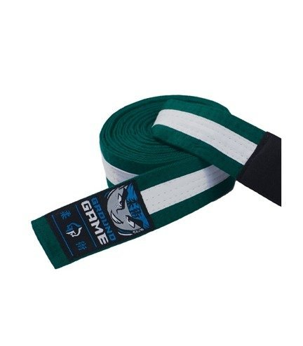 BJJ Kids Belt (Green with white stripe)