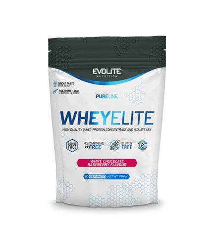 Evolite WheyElite 900g, White chocolate raspberry