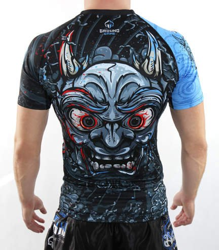 "Rashguard ""Oni Black"" short sleeve"