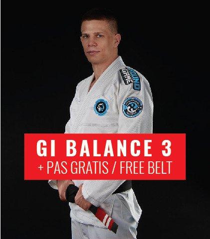 "BJJ GI ""Balance 3"" (White) + FREE Belt"