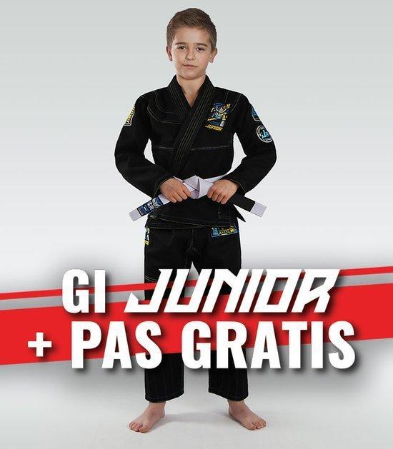 """Junior 3.0"" BJJ Kids GI (Black) + FREE Belt"
