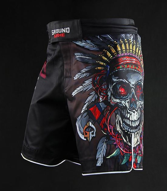 "MMA Shorts ""Indian Skull"""