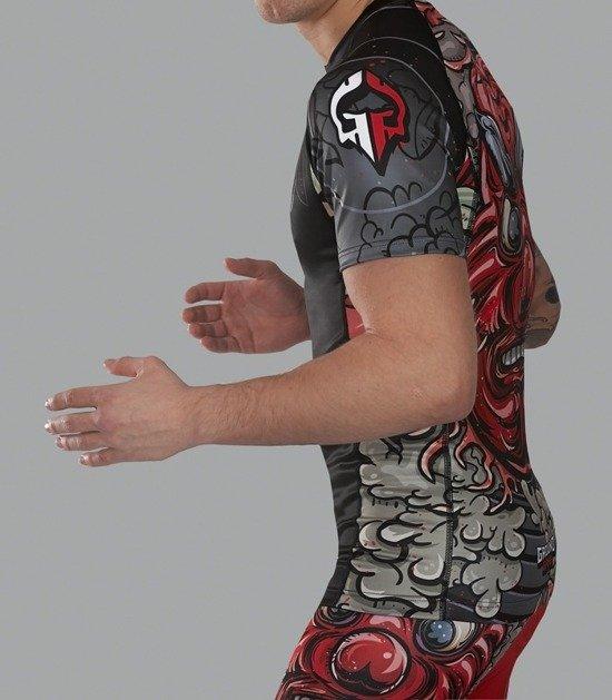 "Rashguard ""Tengu"" short sleeve"