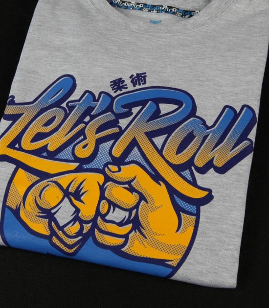 "T-shirt ""Let`s Roll"" Gray"