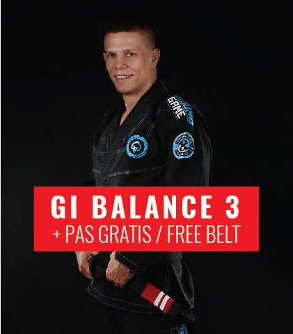 "GI do BJJ ""Balance 3"" (Czarne) + pas GRATIS"