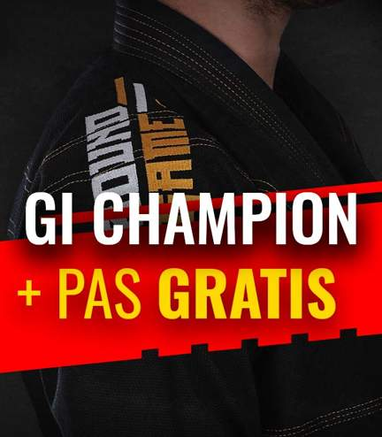 "GI do BJJ ""Champion"" (Czarne) + pas GRATIS"