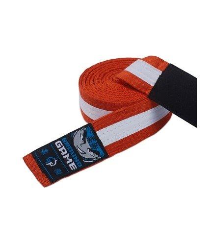 Pas do BJJ dla dzieci (Pomarańczowy z białą belką)