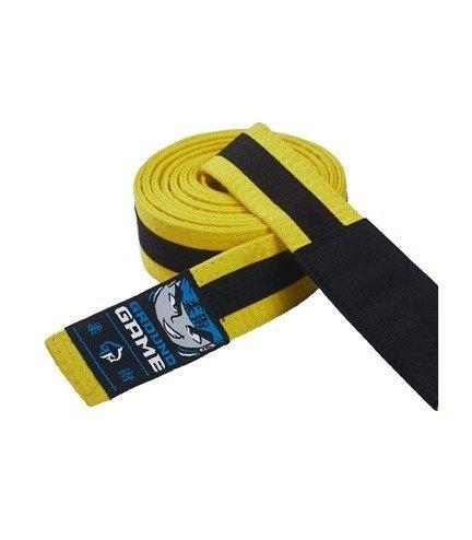Pas do BJJ dla dzieci (Żółty z czarną belką)