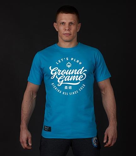 "T-shirt ""Gamester"" Niebieski"