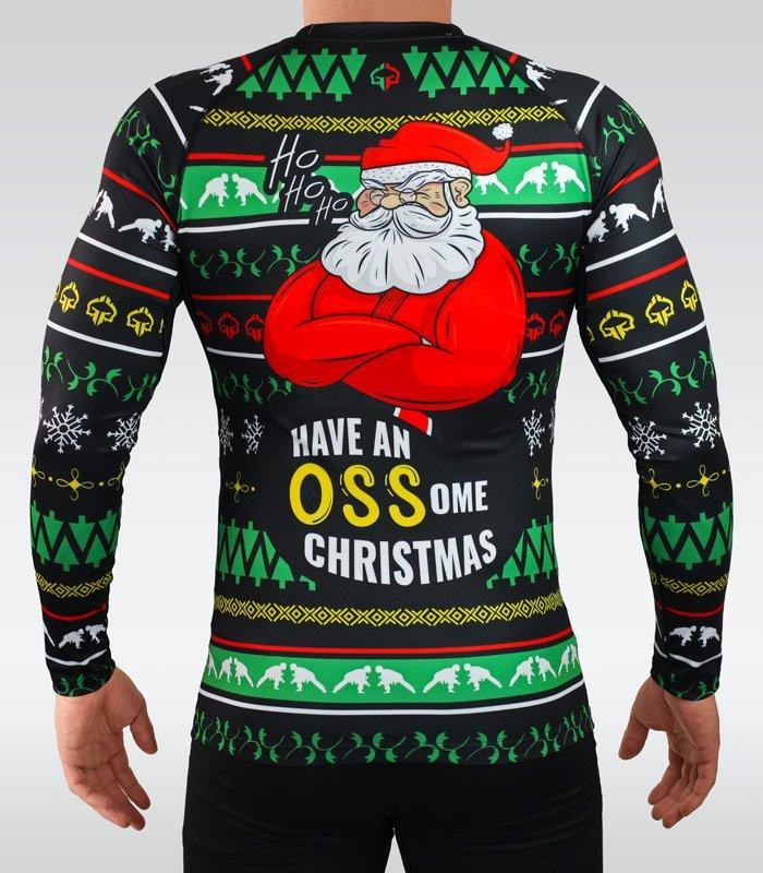 """Rashguard świąteczny """"Ossome Christmas"""" długi rękaw"""
