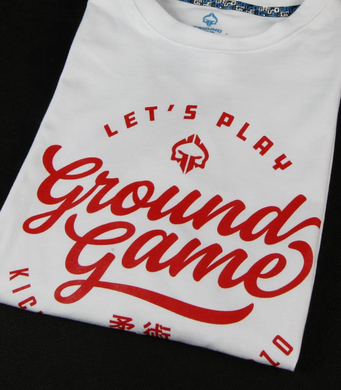 """T-shirt """"Gamester"""" Biały"""