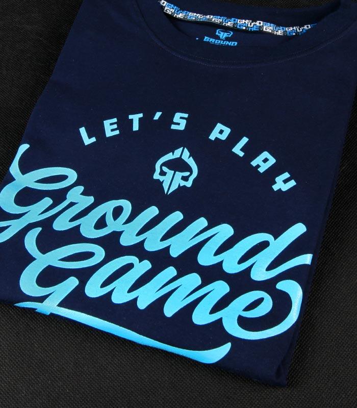"""T-shirt """"Gamester"""" Ciemny granat"""