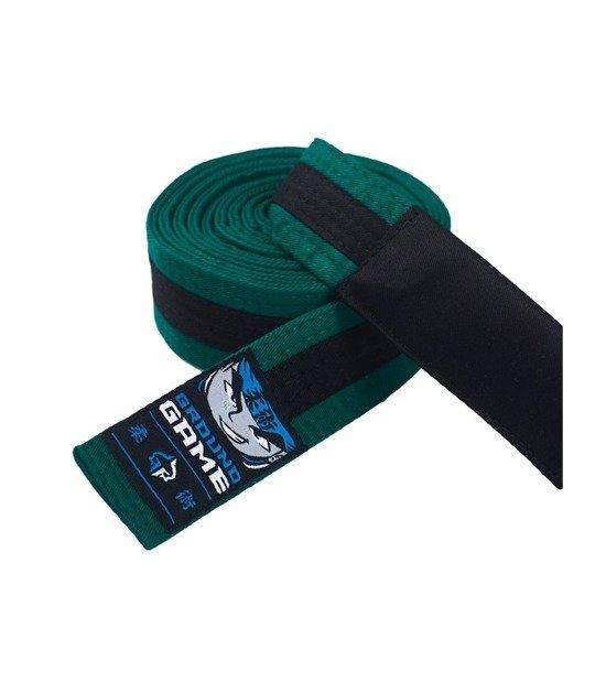 Pas do BJJ dla dzieci (Zielony z czarną belką)