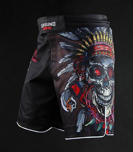 "Spodenki MMA ""Indian Skull"""